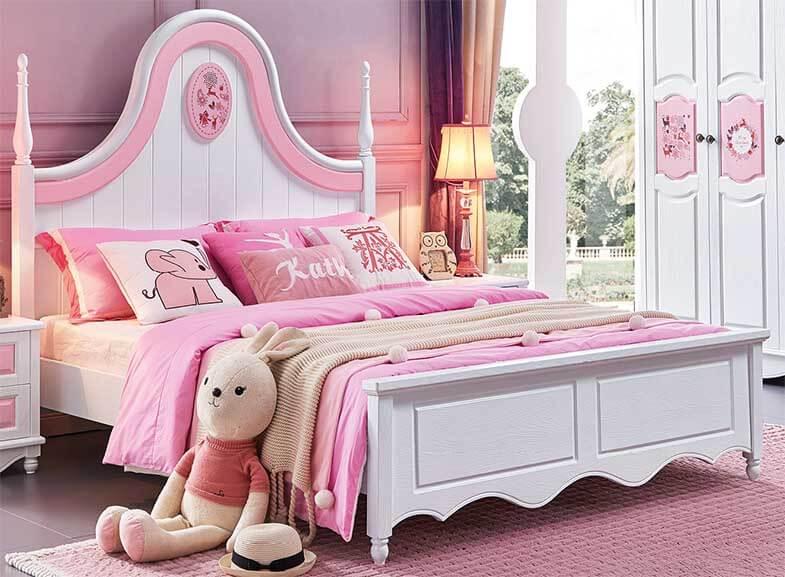 Giường ngủ đơn cho bé gái kiểu dáng công chúa