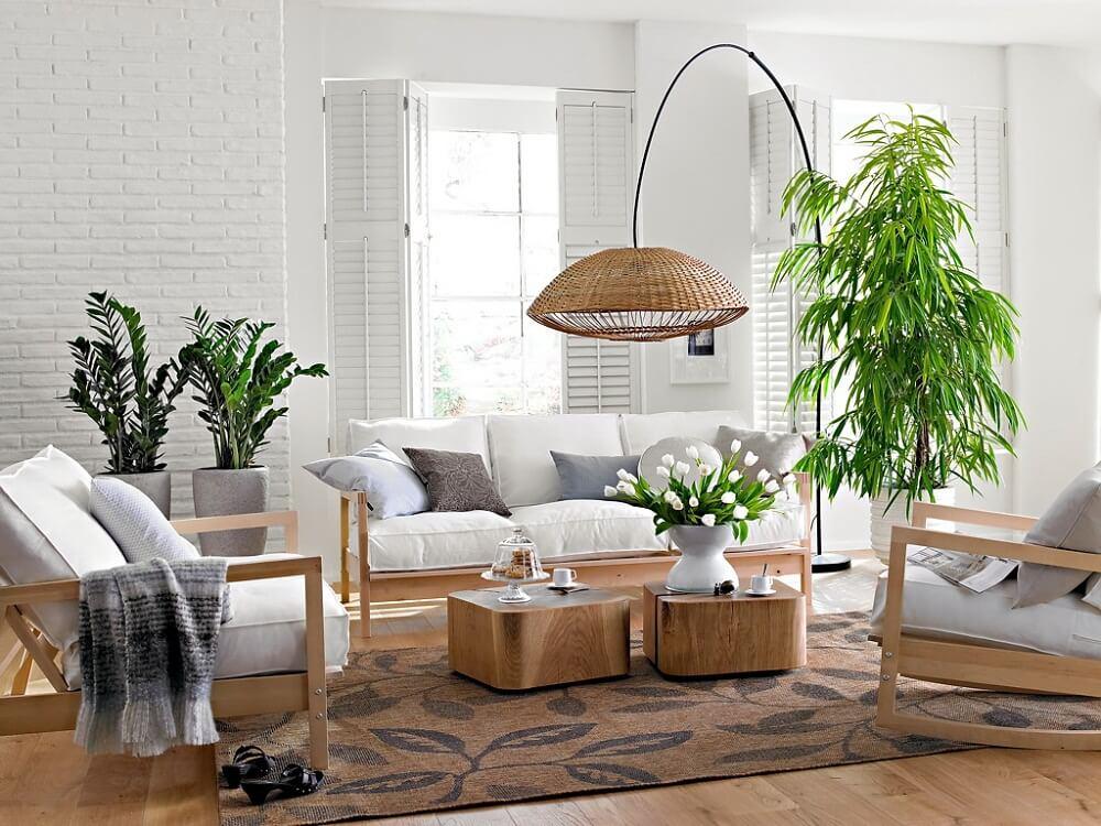 Lí do cây giả trang trí phòng khách được sử dụng nhiều tại HN