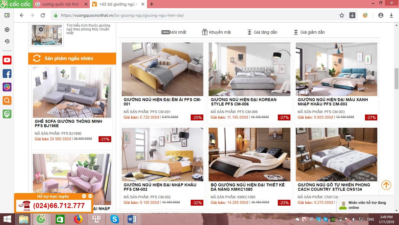 Mặt hàng giường ngủ hiện đại được nhập khẩu về liên tục