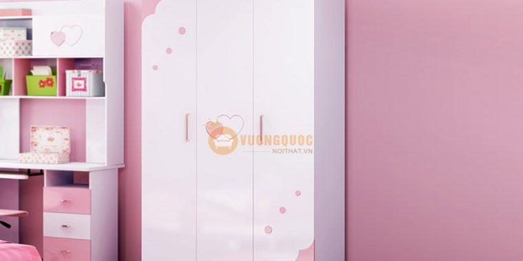 Tủ quần áo cho bé gái đáng yêu HHM802Q