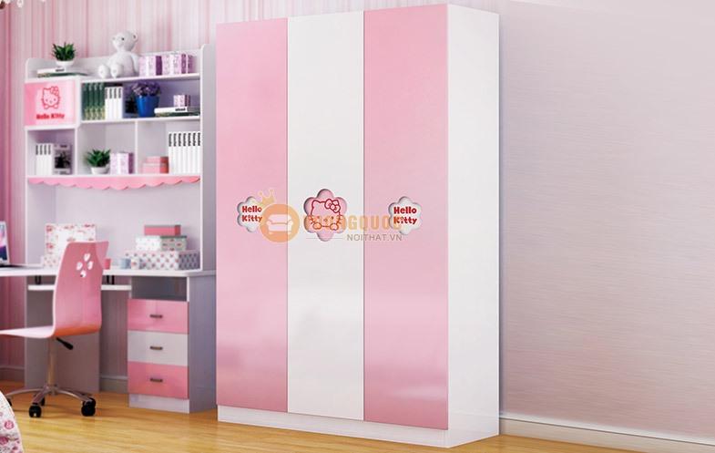 Tủ quần áo công chúa sắc hồng HHM808Q