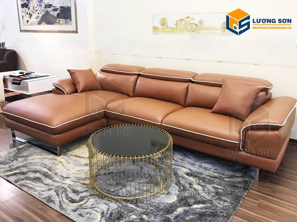 Chọn mua sofa da phù hợp với không gian phòng khách