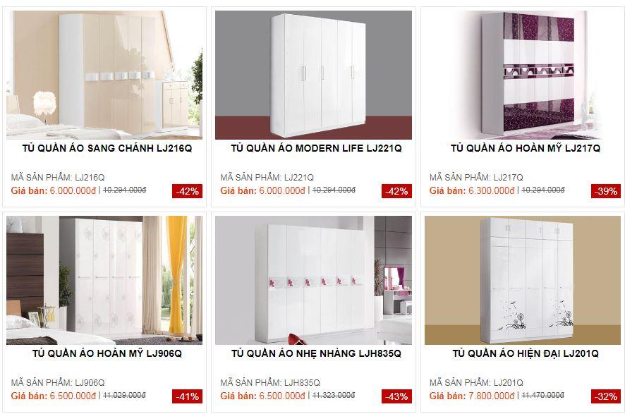 Tủ quần áo hiện đại thiết kế đa dạng