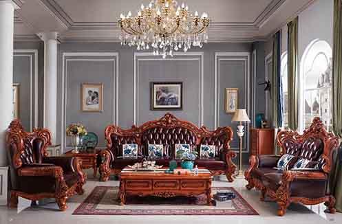 Bàn ghế sofa cổ điển đẹp - chạm khắc tinh xảo, tỉ mỉ