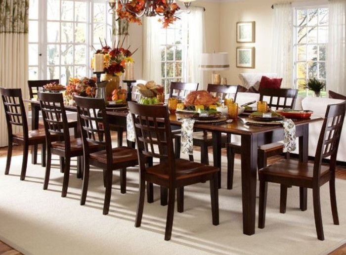 Kích thước bàn ăn 10 người - hình chữ nhật