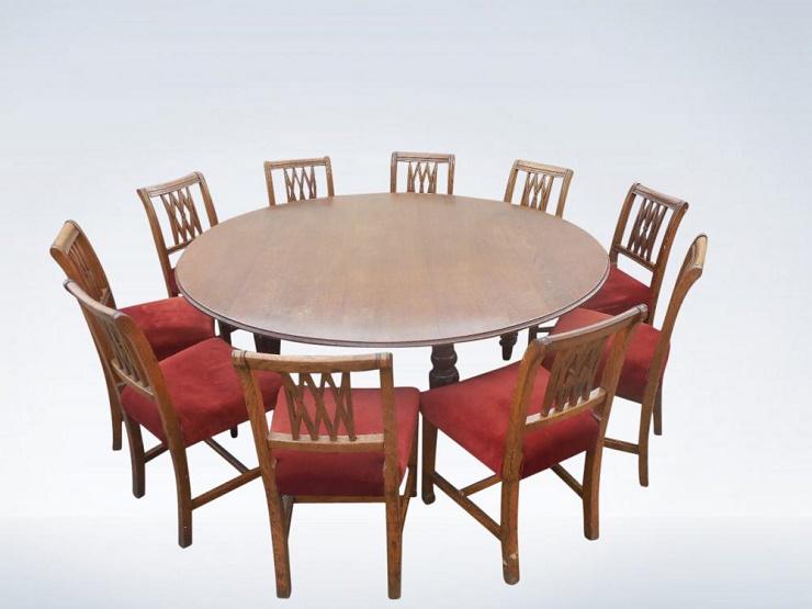 Kích thước bàn ăn 10 người - hình tròn