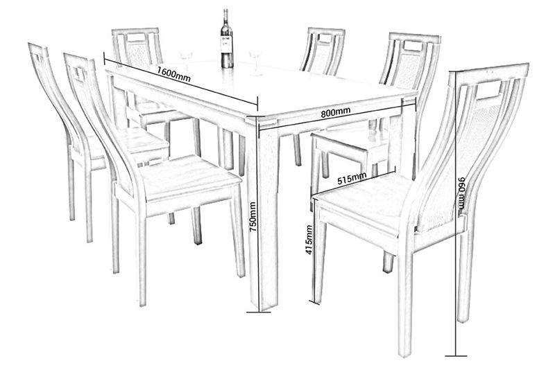 Kích thước bàn ghế ăn tiêu chuẩn của người Việt