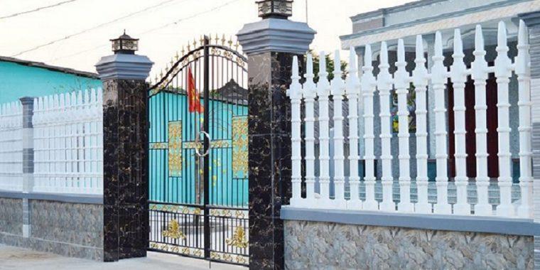 Hàng rào bê tông ly tâm cho cổng đẹp