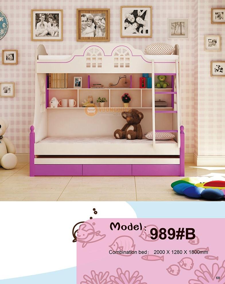 Giường tầng trẻ em HHM989A