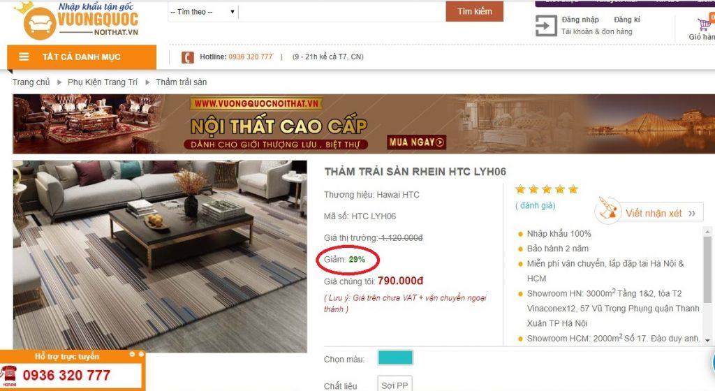 Giá thảm miếng trải sàn rẻ nhất Hà Nội